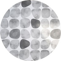 Rond Tafelkleed Gecoat - 180 cm - Keien - Zwart