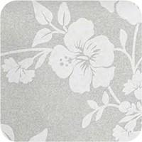 Tafelkleed Gecoat Hibiscus - 140 x 250 cm - Grijs