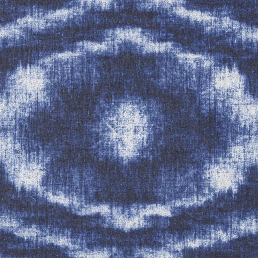 Rond Tafelkleed Gecoat - 180 cm - Tie Dye Indigo Blauw