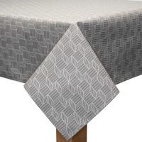 Vierkant Tafelkleed Gecoat - 180 cm - Kubussen - Beige/Wit