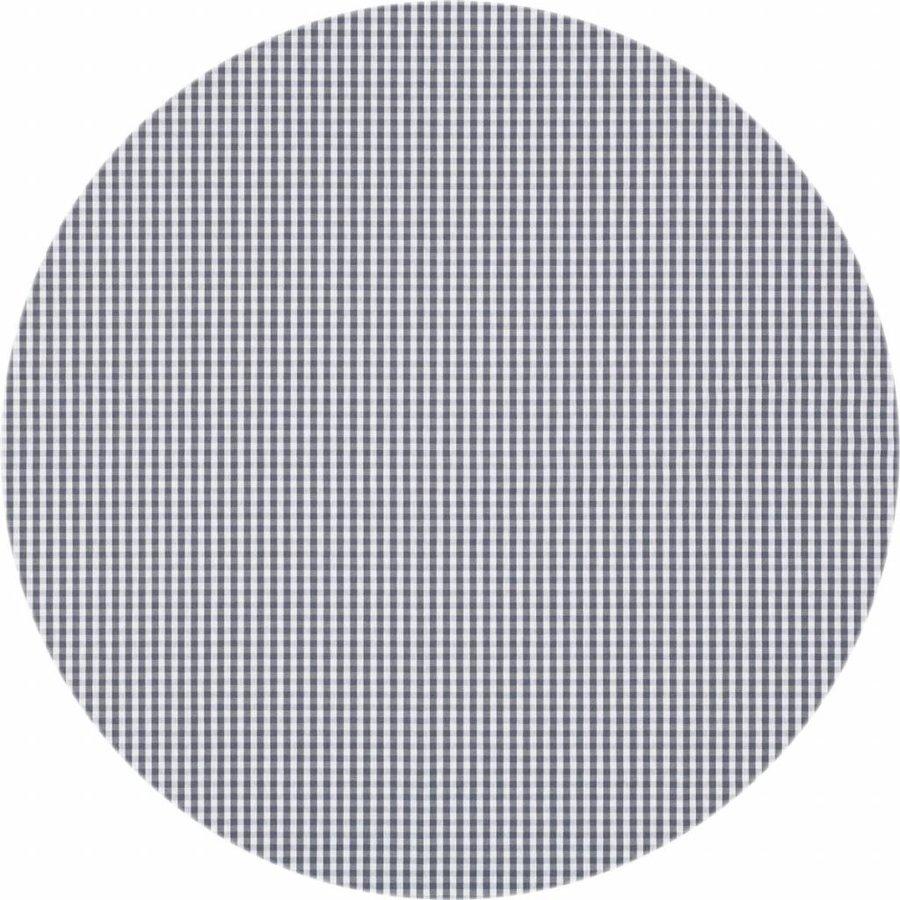 Rond Tafelkleed Gecoat - 180 cm - Ruitje - Grijs
