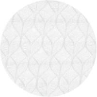 Rond Tafelkleed Gecoat Jacquard - 160 cm - Ogee - Wit