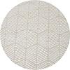 MixMamas Rond Tafelkleed Gecoat Jacquard - 160 cm Striped Hexagon - Beige