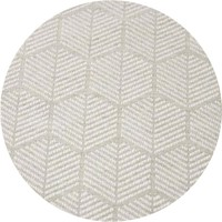 Rond Tafelkleed Gecoat Jacquard - 160 cm Striped Hexagon - Beige