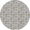 MixMamas Rond Tafelkleed Gecoat Jacquard- 160 cm Spliced Hexagon - Beige