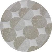 Rond Tafelkleed Gecoat Jacquard- 160 cm Spliced Hexagon - Beige