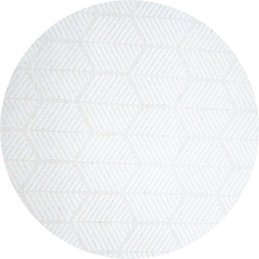 Rond Tafelkleed Gecoat Jacquard - 160 cm Striped Hexagon - Wit