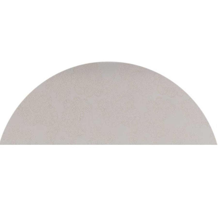 Rond Tafelkleed Gecoat Jacquard - 160 cm - Paisley - Beige/Goud