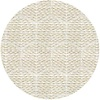 MixMamas Rond Tafelkleed Gecoat Jacquard - 160 cm Striped Hexagon - Beige/Goud