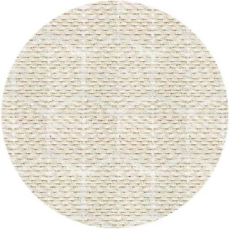 Rond Tafelkleed Gecoat Jacquard - 160 cm Striped Hexagon - Beige/Goud