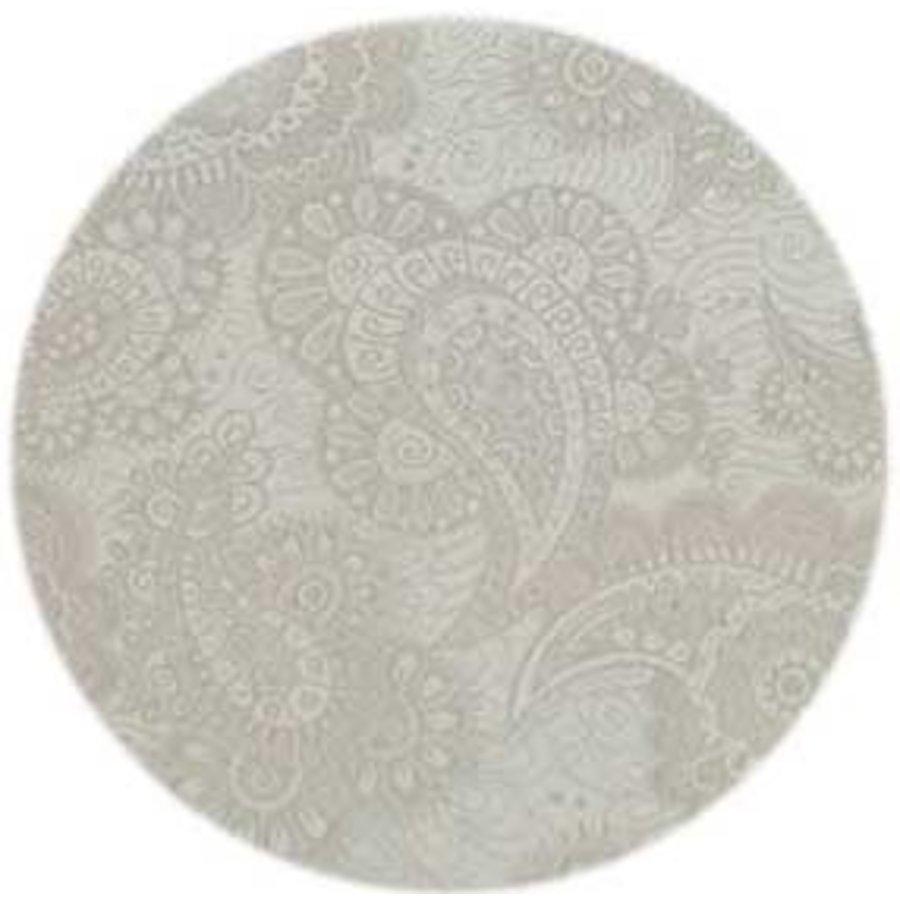 Rond Tafelkleed Gecoat Jacquard - 160 cm - Paisley Linnen  - Beige