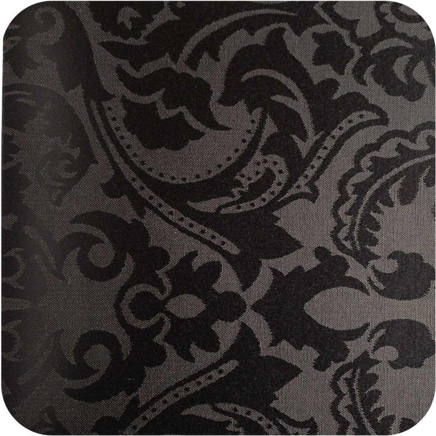 Vierkant Tafelkleed Gecoat Jacquard - 180 cm - Barok - Zwart