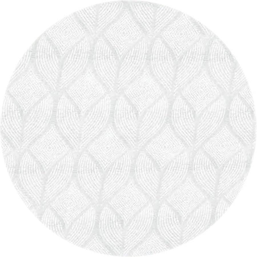Rond Tafelkleed Gecoat Jacquard - 180 cm -Ogee - CrèmeWit