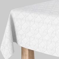 Vierkant Tafelkleed Gecoat Jacquard  - 180 cm - Ogee - Wit