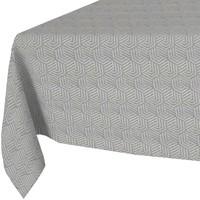 Vierkant Tafelkleed Gecoat Jacquard  - 180 cm - Hexagon Seamless -Grijs