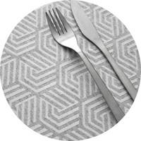 Rond Tafelkleed Gecoat Jacquard- 180 cm Seamless Hexagon
