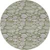 MixMamas Rond Tafelkleed Gecoat Jacquard - 180 cm Tropische Bladeren - Groen