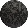 MixMamas Rond Tafelkleed Gecoat Jacquard - 180 cm -Barok - Zwart