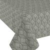 MixMamas Tafelkleed Gecoat Ogee Jacquard 140 x 250 cm  Groen / Grijs