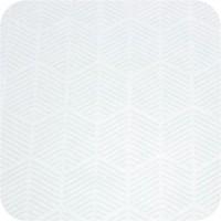 Tafelkleed Gecoat Jacquard Striped Hexagon 140 x 250 cm Wit