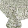 MixMamas Tafelkleed Gecoat Jacquard Tropische Bladeren  140 x 300 cm  Groen