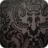 MixMamas Tafelkleed Gecoat Barok 140 x 250 cm Zwart