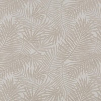 Tafelloper Gecoat Jacquard Linnen - 140 x 45 cm- Tropical Leaves - Beige