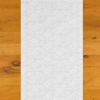 Tafelloper Gecoat Ogee- 140 x 45 cm- wit