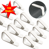 MixMamas Tafelkleed klemmen - kunststof - wit - 100 stuks - budget - Groothandelsverpakking