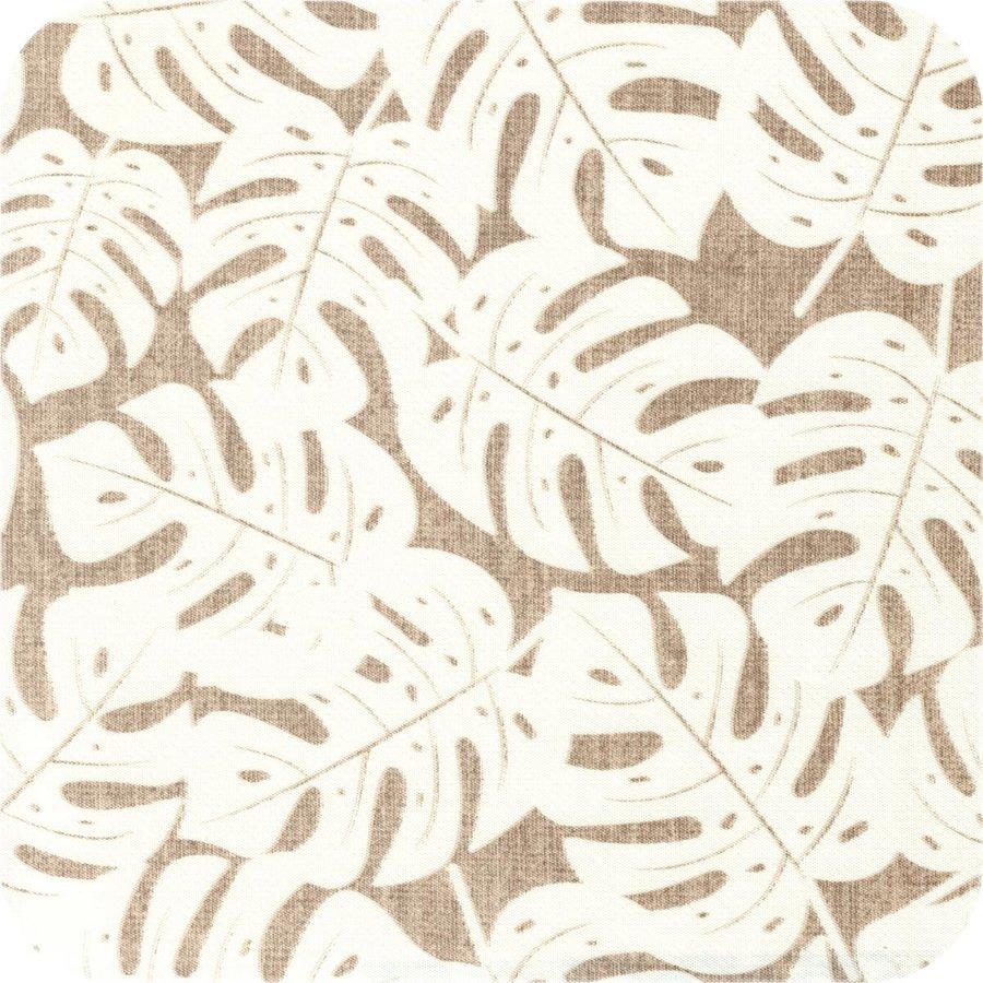 Tafelzeil 140 x 200 cm - Monstera Taupe/Wit