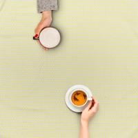Tafelzeil 140 x 200 cm - Oogjes - Grijs/Geel