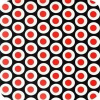Tafelzeil 140 x 200 cm - Oogjes - Zwart/Rood
