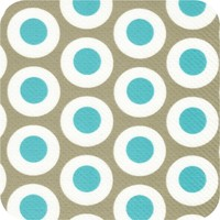 Tafelzeil 140 x 200 cm - Oogjes - Taupe/Turquoise
