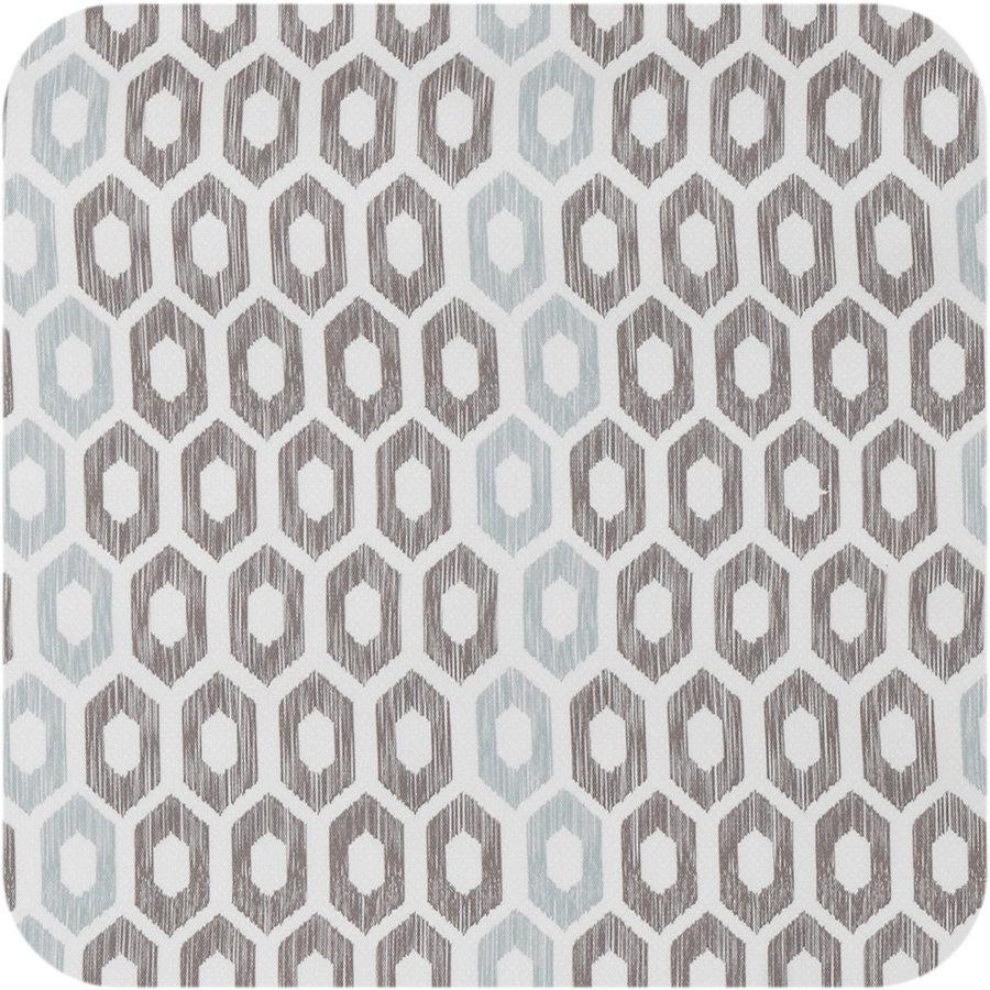 Tafelzeil 140 x 200 cm - Etnische Hexagon - Zwart/Blauw