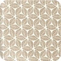 Tafelzeil 140 x 200 cm - Graphic-leaves-taupe