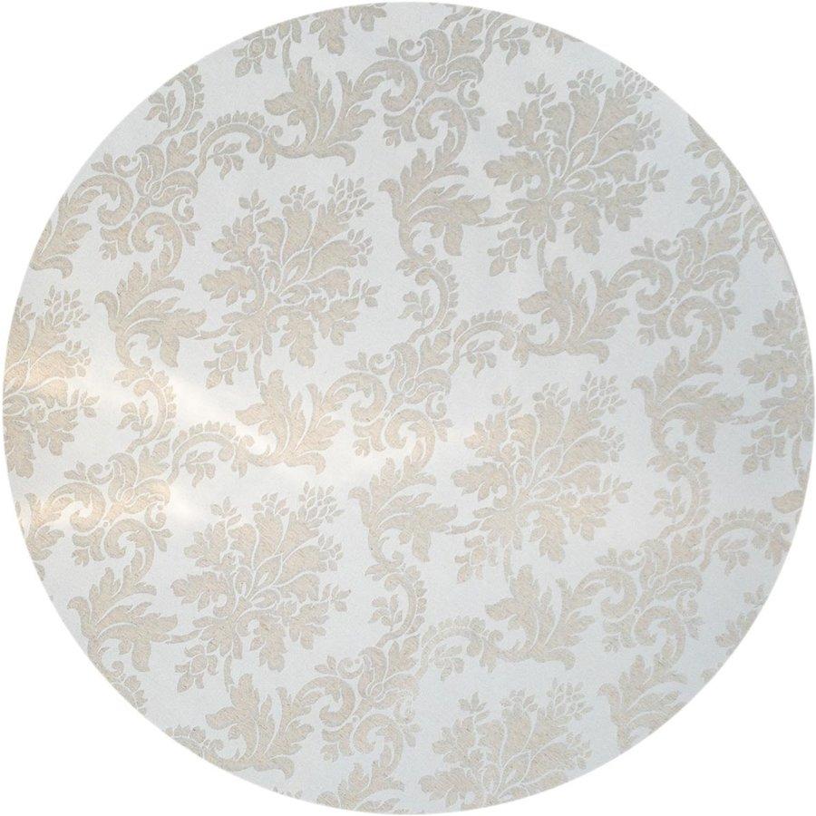 Rond Tafelkleed Gecoat Jacquard - 160 cm Chateau Barok - Beige / Zilver