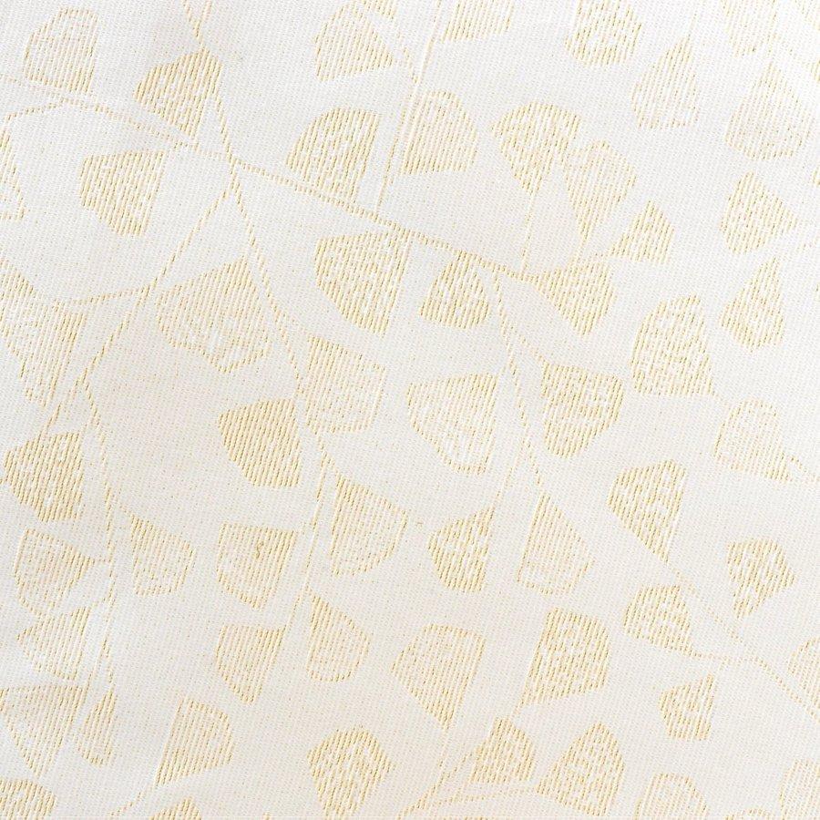 Rond Tafelkleed Gecoat - 160 cm - Blaadjes Wit/Goud