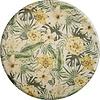 MixMamas Rond Tafelkleed Gecoat - 160 cm - Tropical Hibiscus groen