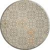 MixMamas Rond Tafelkleed Gecoat - 160 cm - Maroc pale