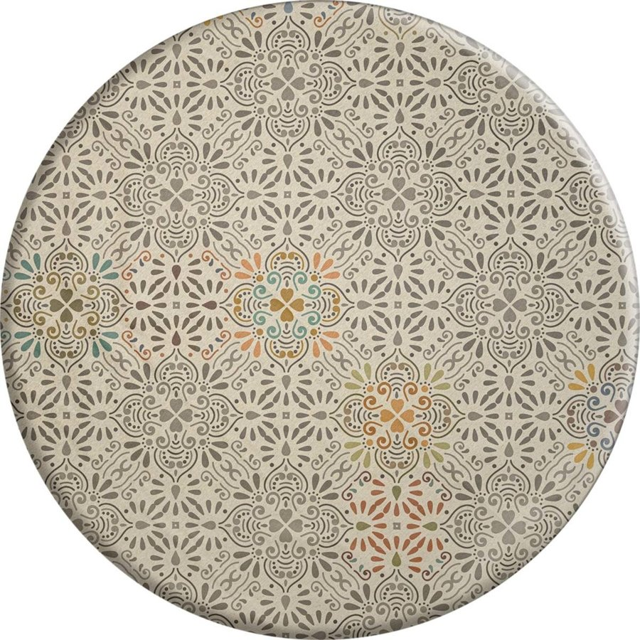 Rond Tafelkleed Gecoat - 160 cm - Maroc pale