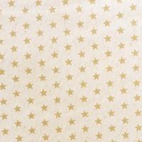 Rond Tafelkleed Gecoat Jacquard - 160 cm - Sterren Wit/Goud