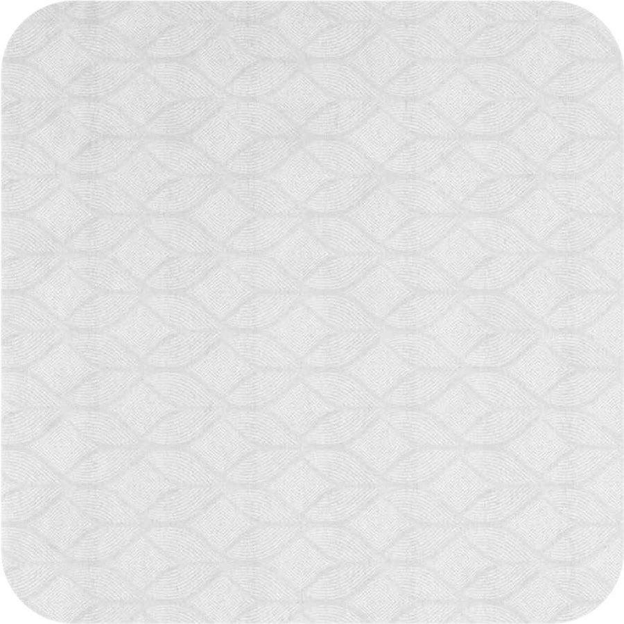 Tafelkleed Gecoat Jacquard Ogee - 140 x 300cm - Wit