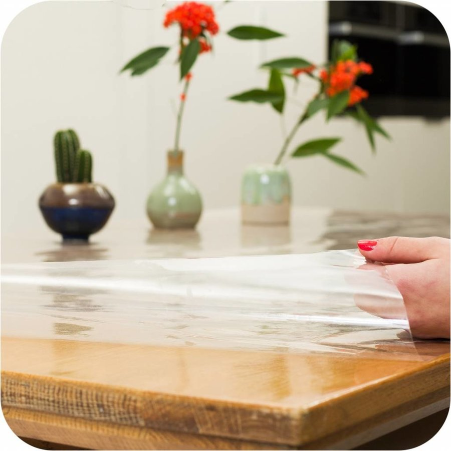 Transparant Tafelzeil Rond - 180 cm - gevouwen op Rol