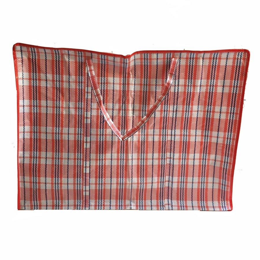 Big Shopper / Opbergtas / Waszak XL - 70x50 cm - Multipack 10 stuks - Rood