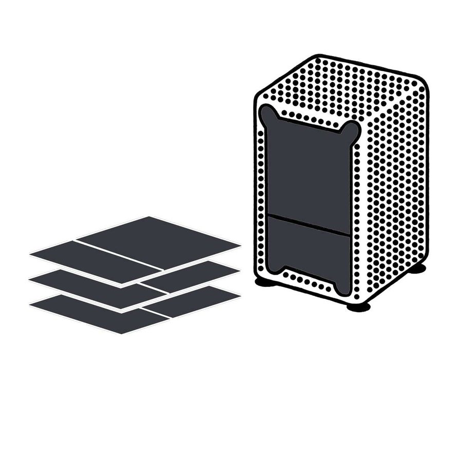 Dispenser Servetten - Navulling servethouder 3600 stuks - Zwart - Gracias