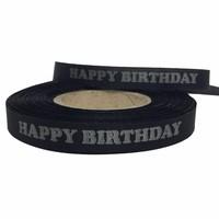 Happy Birthday lint - Zwart