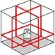OMTools LP363 3D Multi-cone met 3x 360° zeer heldere rode stralen