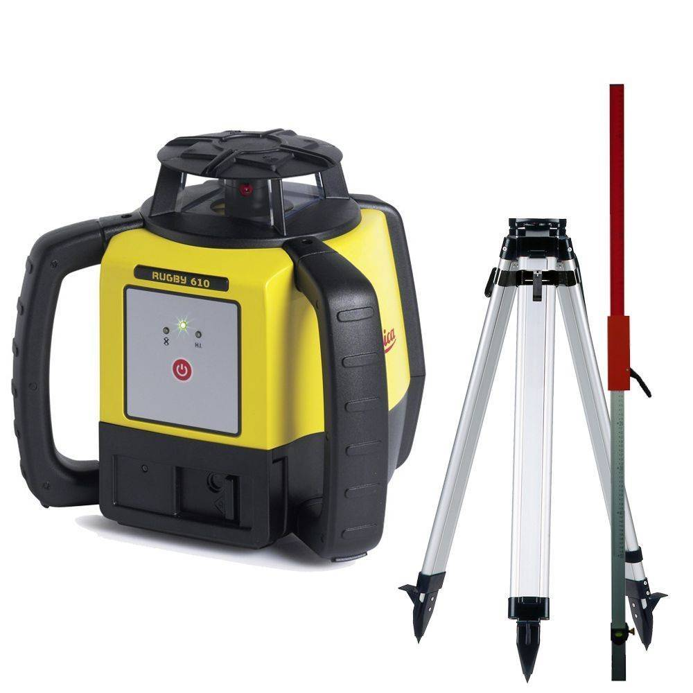 Leica  Rugby 610 construction laser action Set incl. TRP160 Tripod and LB-2 laserrod