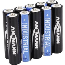 Ansmann Industrial AAA Lithium  battery  1,5V upto 300% more power than Alkaline