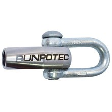 Runpotec Pulling head with link RTG12, stainless steel